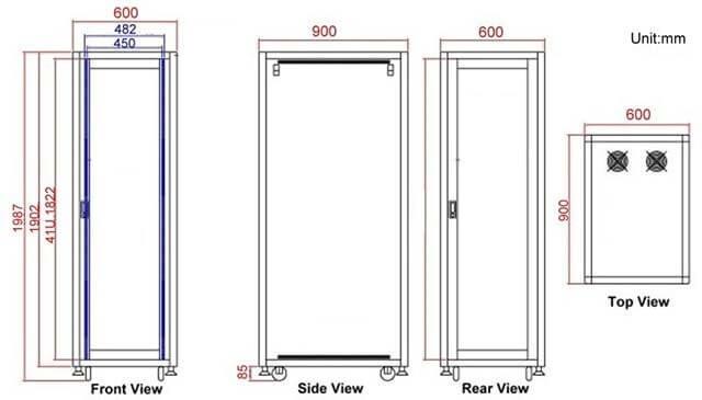 kích thước tủ rack
