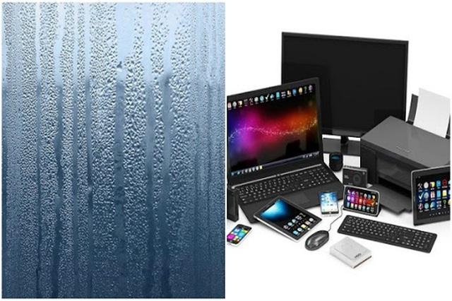 Tác hại của thời tiết nồm ẩm với đồ điện tử