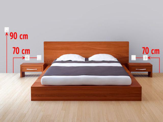 Thiết kế ổ cắm điện trong phòng ngủ